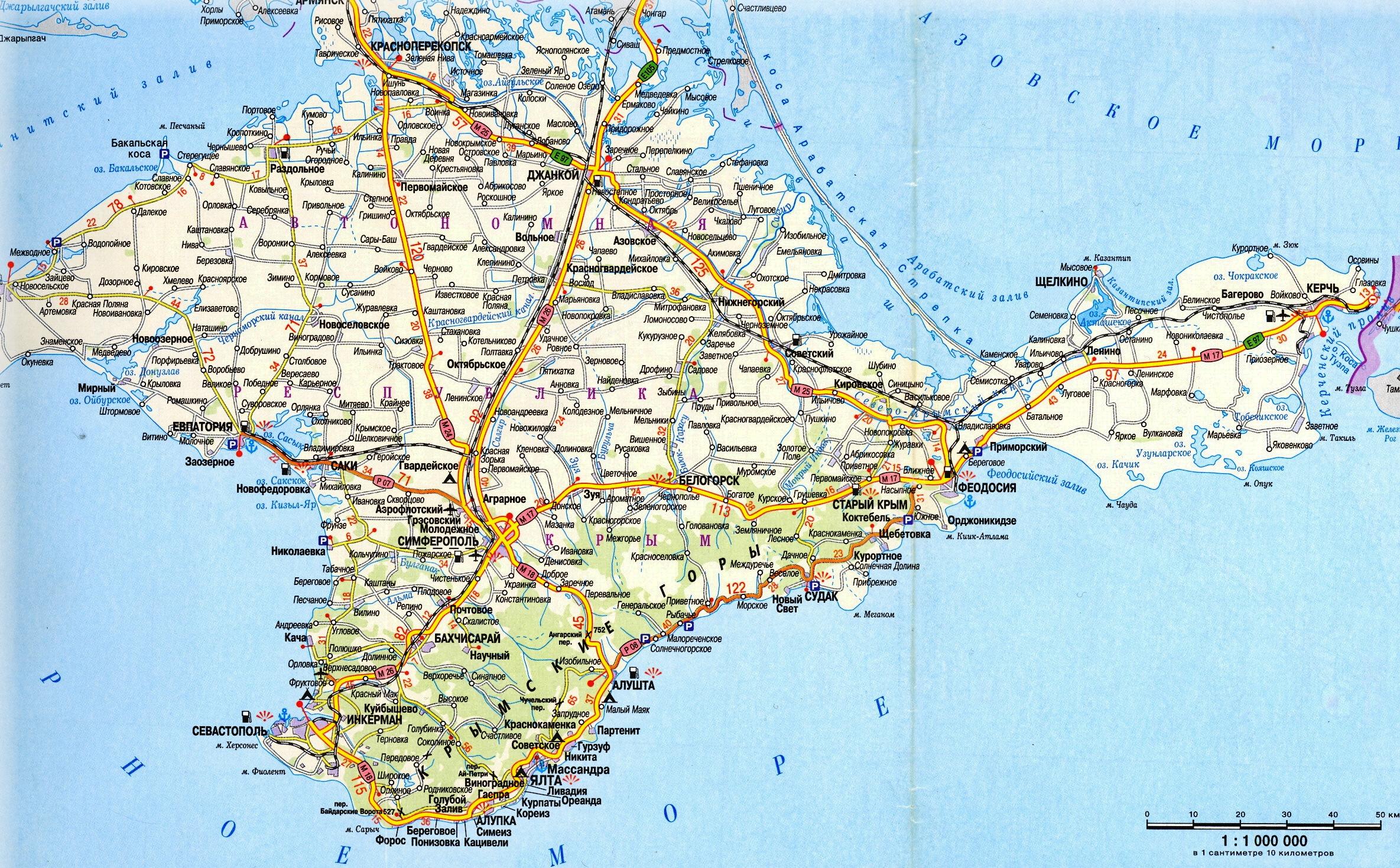 Фото схема карты крыма