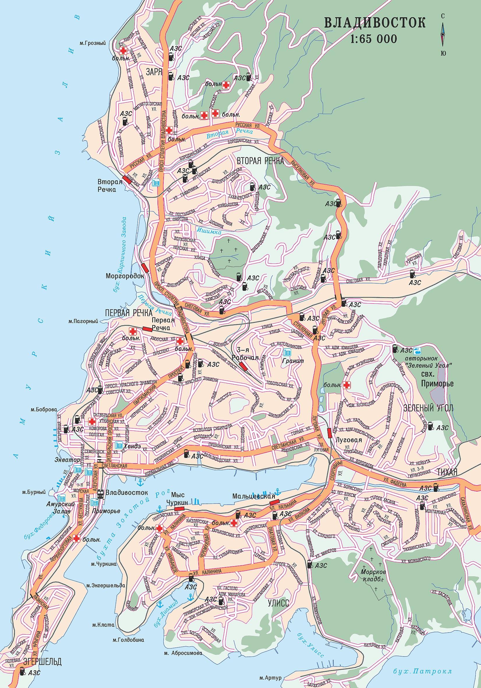 схема маршрута 15к владивосток
