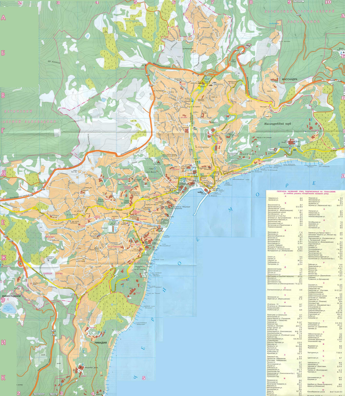 Карты судака судак на карте крыма, туристическая карта.