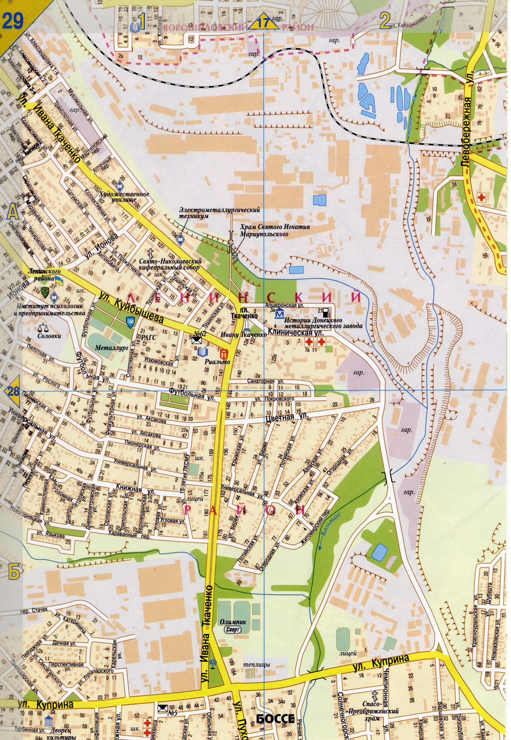 Карта схема 18 района