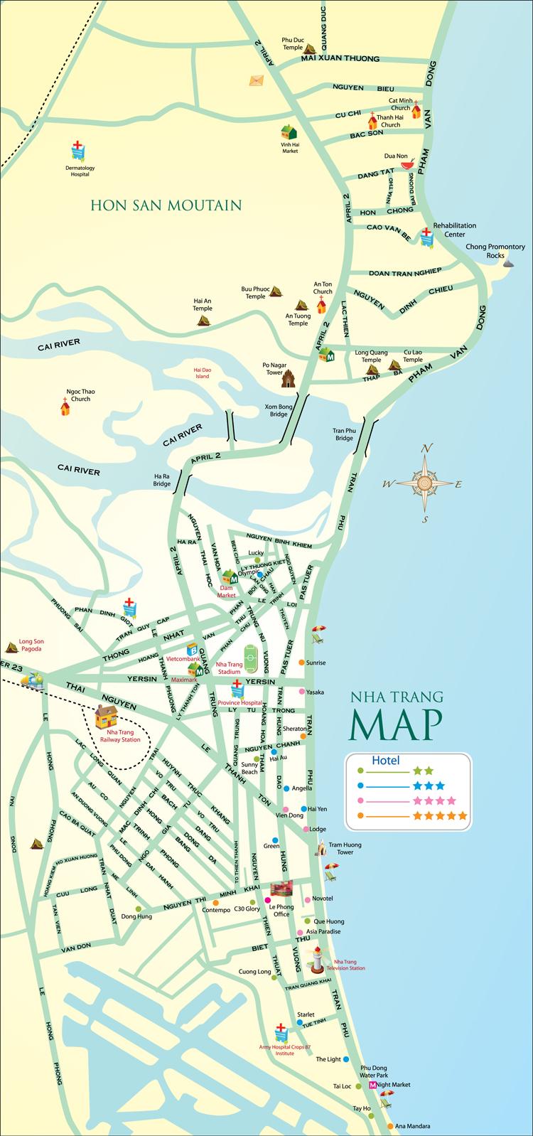 Карта нячанга вьетнам на русском языке