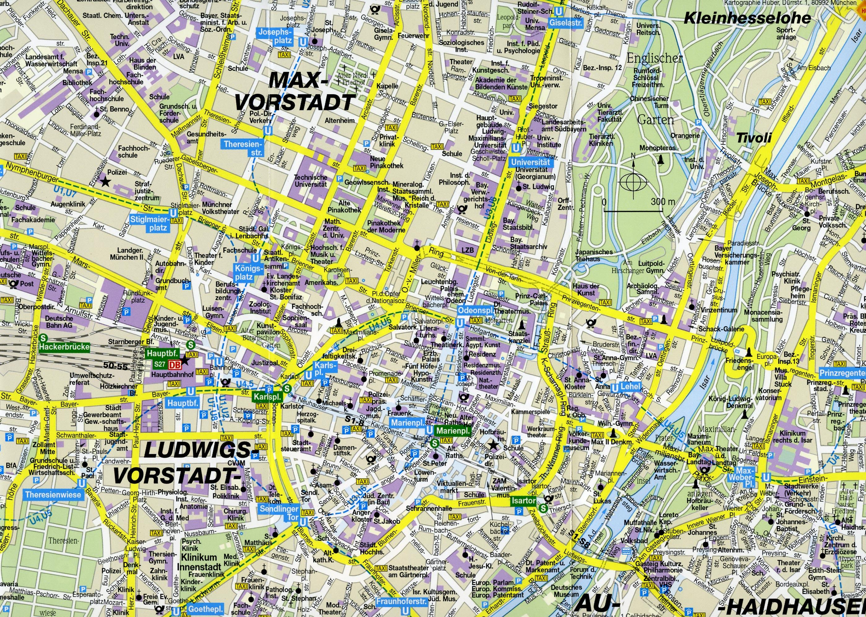 она меж достопримечательности мюнхена на карте сильной блондинки