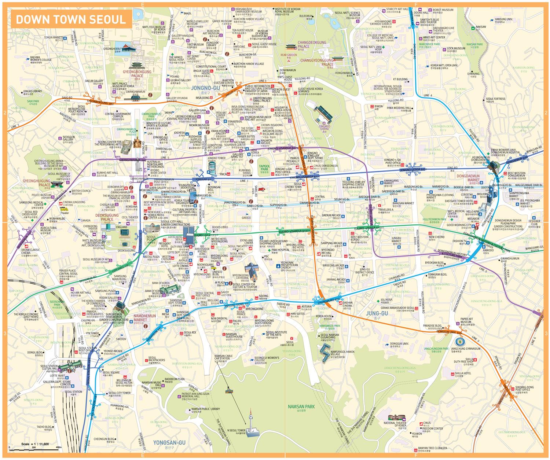 Схема метро сеула на русском языке фото 61