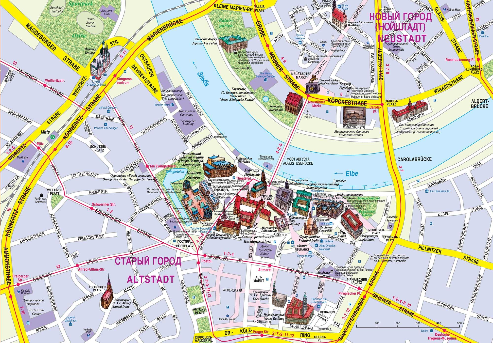 Дрезден карты и схемы