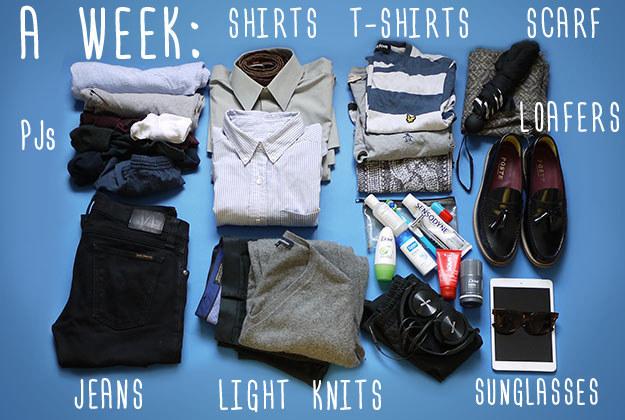 Как упаковать вещи на любой случай: Выпуск для парней