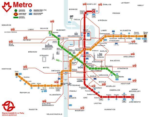 В Праге метро очень понятное и