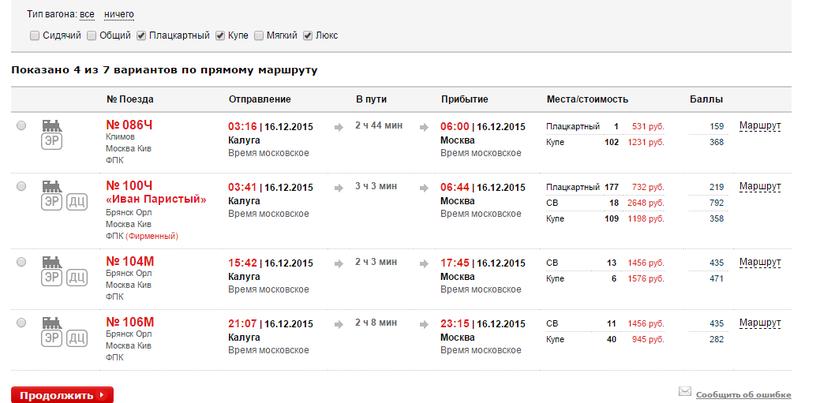 время отправления электричек с киевского вокзала на расскажем вам