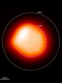 Астрономы впервые смогли сфотографировать далекую звезду в высоком разрешении