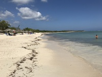 Пляж на Кубе, июль