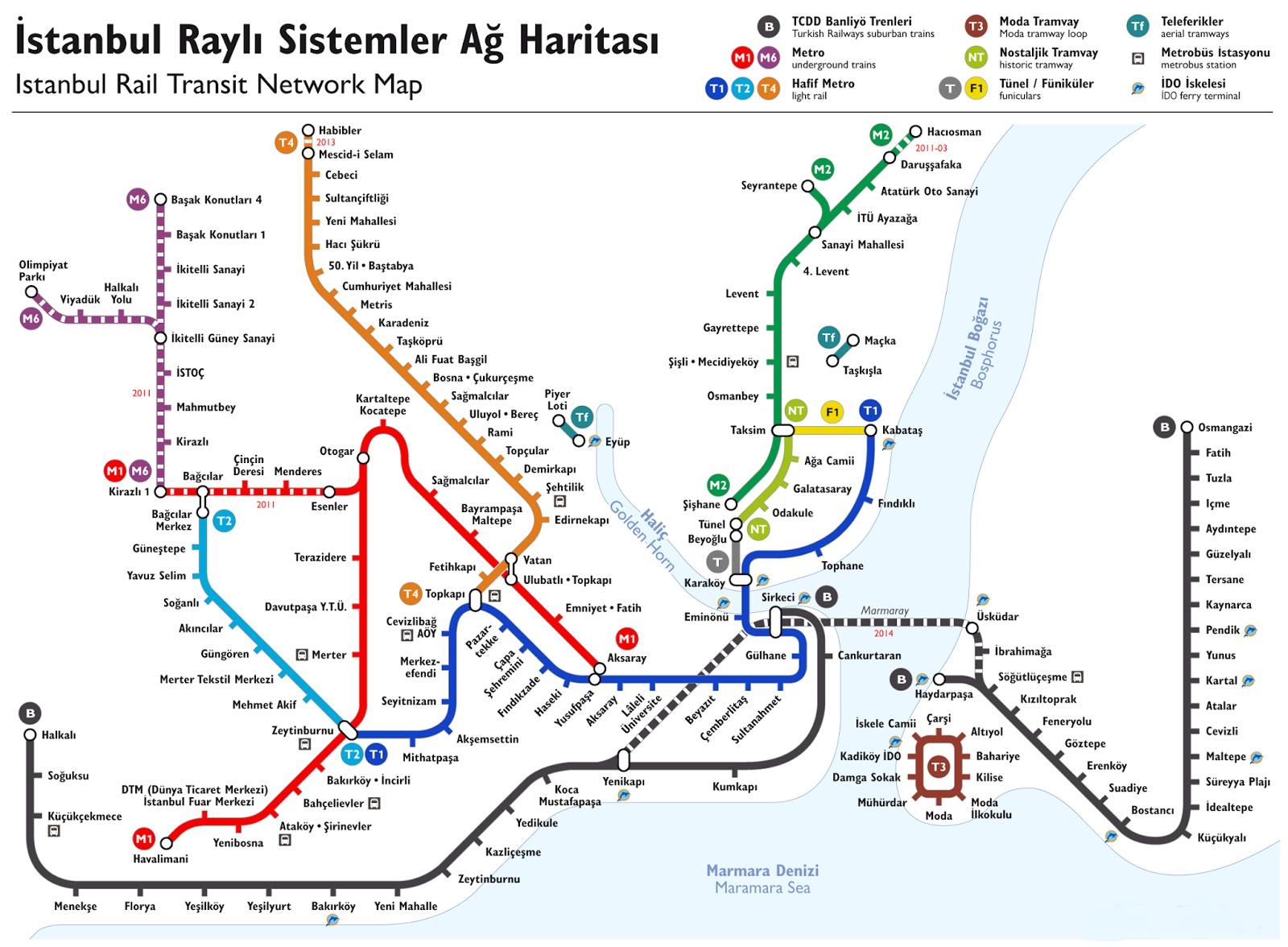 Karta Stambula S Dostoprimechatelnostyami Na Russkom Yazyke Karta