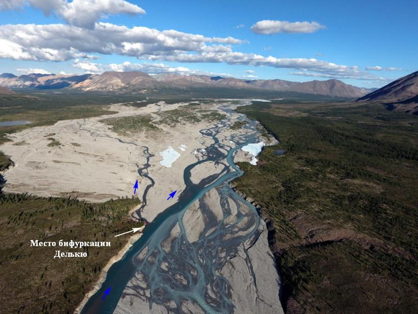Российская Делькю — единственная река в мире, которая впадает в два океана