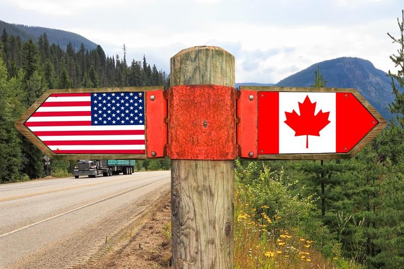 Почему между США и Канадой такая ровная граница