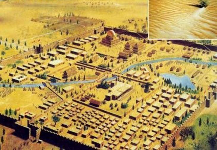 Реконструкция древнего города Лоуланя