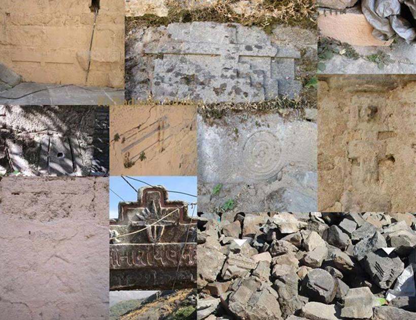 Артефакты, обнаруженные при раскопках