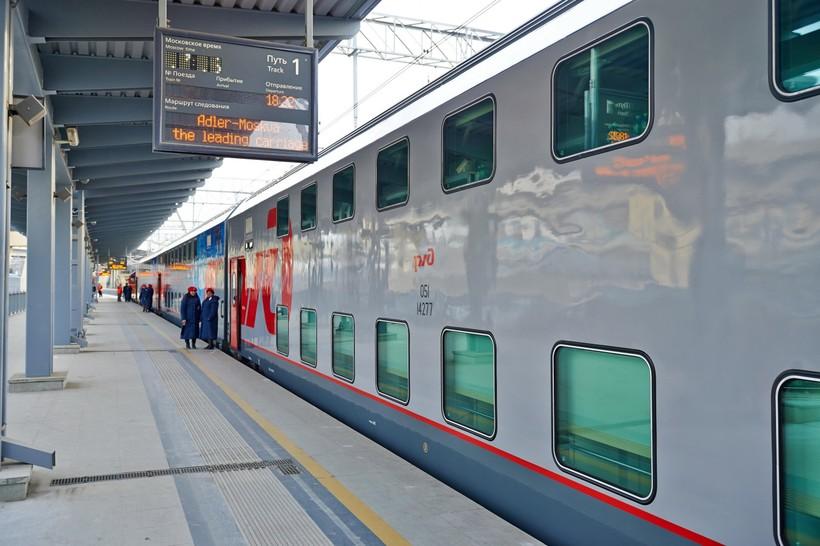 маршрут с фото поезда москва сочи лето
